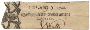 The Earliest Known Lottery in America