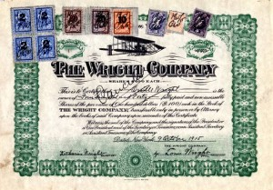 Wright Brothers Stock Certificate